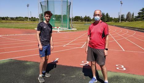 Aleix Porras i Salvador Porras, els primers a tornar a les pistes.