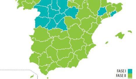 El setanta per cent d'Espanya, 32 milions d'habitants, estarà dilluns vinent a la fase 2