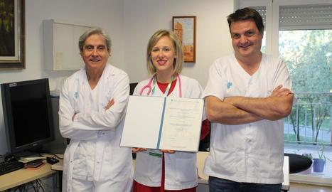 Premi internacional - La Unitat de Mama de l'Arnau de Vilanova va rebre a finals de l'any passat el segon premi a la Millor Comunicació al congrés XVI St. Gallen International Breast Cancer Conference, que es va celebrar a Suïssa. A la imatg ...