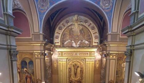 La missa va limitar l'aforament i es va poder seguir per Lleida TV.