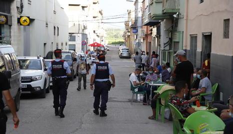 Mossos patrullaven divendres passat a Aitona.