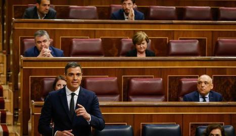 Sánchez tira endavant l'última pròrroga en un Congrés aspre i polaritzat