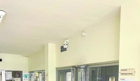 Vista de la càmera tèrmica instal·lada al departament de comunicacions de la presó de Ponent.