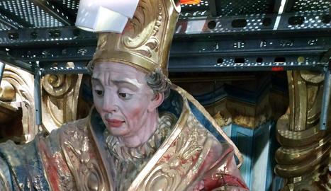 Acaba la restauració del retaule major del Santuari del Miracle de Riner