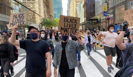 Les marxes contra el racisme es multipliquen dia a dia als carrers de tot EUA. A la foto, Nova York.