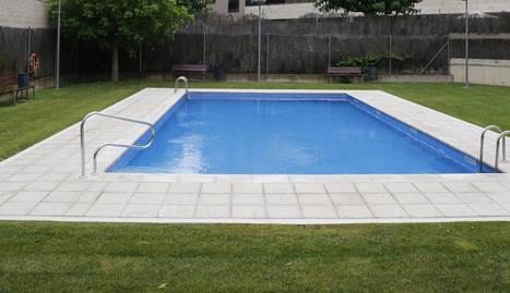 Una piscina comunitària de Lleida ciutat.