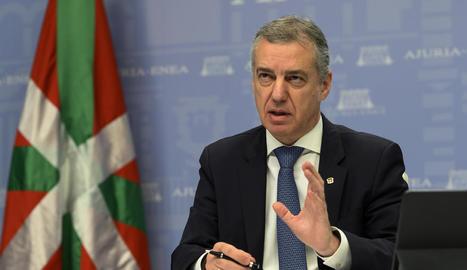 """Urkullu va destacar la bona evolució d'Euskadi malgrat els focus """"controlats"""" dels hospitals."""