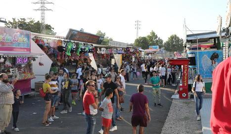 Firetes a les passades Festes de Tardor, l'última ocasió en la qual s'han instal·lat a Lleida.