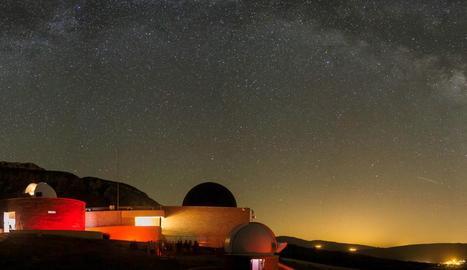 Vista del Parc Astronòmic del Montsec (PAM), a Àger.