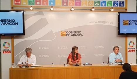 La roda de premsa del govern d'Aragó.