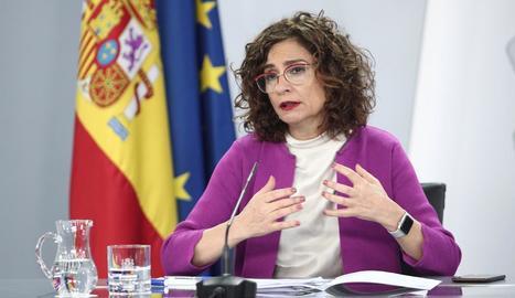 La ministra d'Hisenda i portaveu del Govern, María Jesús Montero, després del Consell de Ministres.