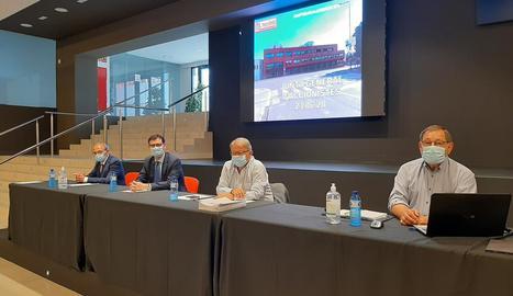 Imatge de la reunió feta ahir a Mercolleida.