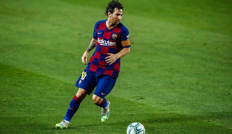 Leo Messi, en el partit de dimarts contra l'Athletic.