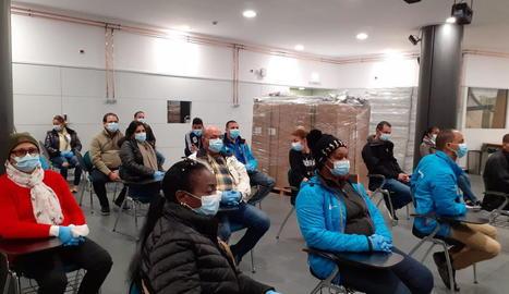 Sanitaris cubans que han treballat a Andorra.