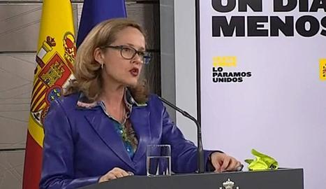 Imatge d'arxiu de la vicepresidenta econòmica, Nadia Calviño.