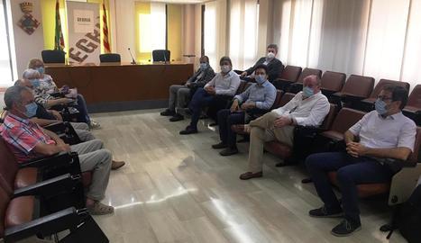 Reunió de Gavín amb els alcaldes del Segrià.