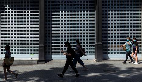 Una vista d'un carrer del centre de Barcelona.