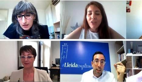 Un moment del ple telemàtic de la Paeria de Lleida.