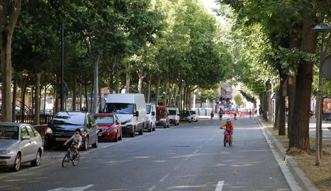 Un dels carrers que la Paeria converteix en zona de vianants els caps de setmana.