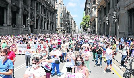 Protesta davant de la subdelegació del Govern estatal a Lleida.