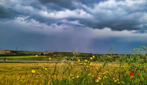 Abans d'una intensa tempesta, des d'Arbeca.