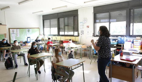En la reobertura aquest juny els alumnes sí que van haver de respectar la distància i portar mascareta.