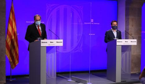 El president de la Generalitat, Quim Torra, en un moment de la seua intervenció telemàtica a la jornada.