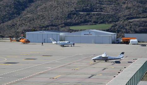 Imatge recent de l'aeroport de la Seu.