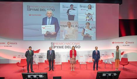Imatge de la cerimònia de l'entrega de premis, que es va dur a terme per via telemàtica.