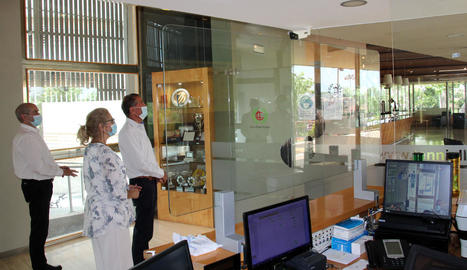 L'entrada a les instal·lacions del CT Lleida està controlada per un sistema de mesurament termogràfic.