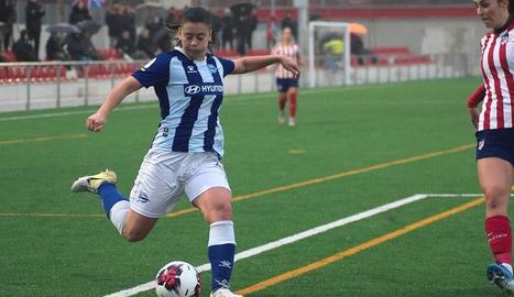 Alexia Blanco, en un partit amb el seu anterior equip.