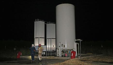 Imatge aquesta matinada de l'estació de gas.