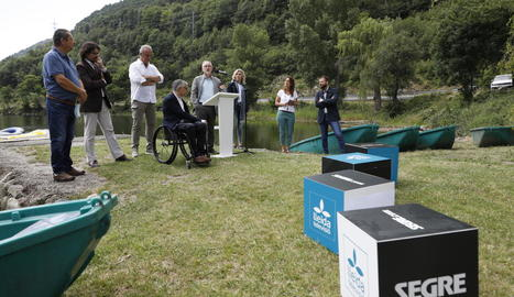 El director executiu de SEGRE, Juan Cal, en un moment de la presentació.