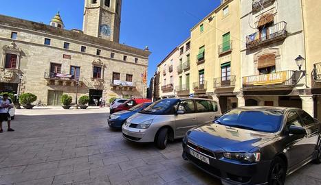 Imatge de la plaça Major de Cervera.