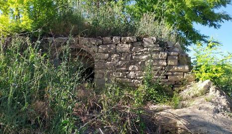 Imatge de l'estat actual de l'antic dipòsit d'aigua.
