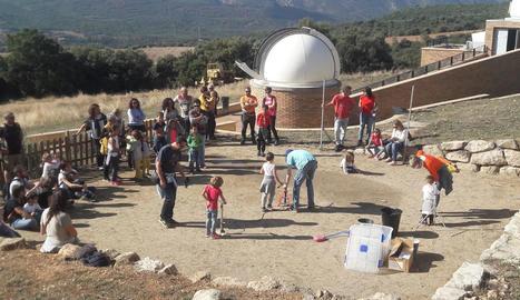 Una de les activitats celebrades al COU d'Àger amb nens.