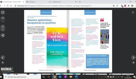 Una de les pàgines de la revista que han confeccionat.