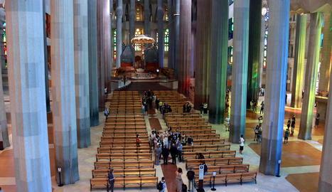 La Sagrada Família obre les portes als sanitaris