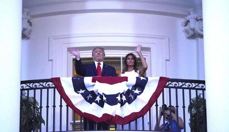 Donald Trump i Melania, durant els actes del 4 de juliol.