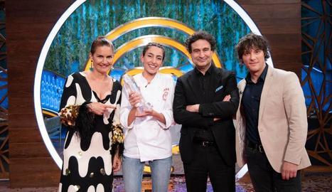Samantha Vallejo-Nájera, Ana Iglesias, Pepe Rodríguez i Jordi Cruz, guanyadora i jurat del concurs.