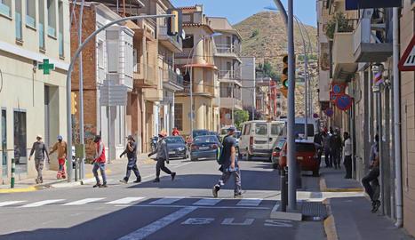 Els carrers d'Aitona, en una imatge presa ahir al matí.