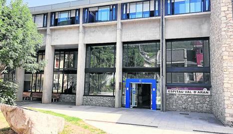 L'entrada de l'Espitau de Vielha.