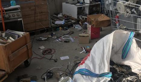 Imatge de les instal·lacions després del robatori.