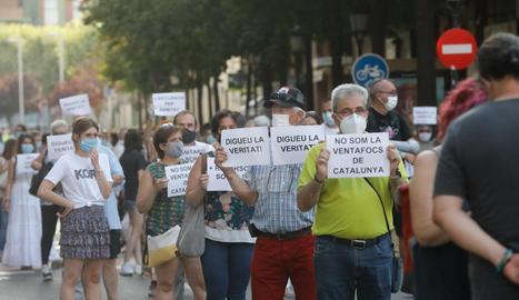 Concentración en Lleida contra la