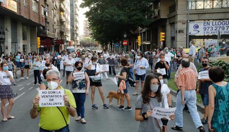 Concentració a Lleida contra la