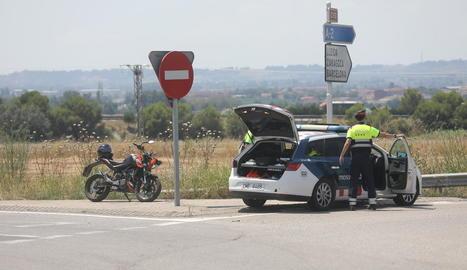Imatge de la moto implicada en el sinistre a Alcoletge.
