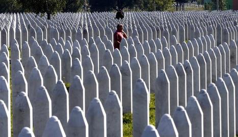 El Centre Memorial de Potocari, on descansen les víctimes, va rebre poques visites pel coronavirus.