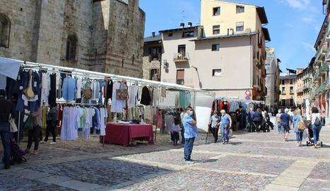 Imatge d'arxiu del mercat setmanal de la Seu d'Urgell.