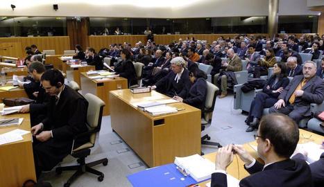 Vista de la sala del Tribunal de Justícia de la Unió Europea amb seu a Luxemburg.