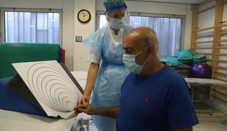 Josep Vilà va passar gairebé dos mesos hospitalitzat i ara es recupera d'una lesió muscular a l'espatlla.